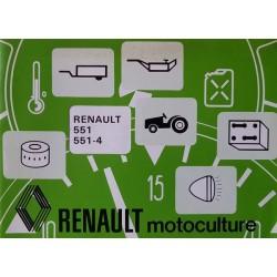 Renault 551, 551-5 types R7451 et R7454, notice d'entretien