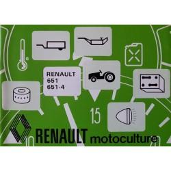 Renault 651, 651-5 types R7461 et R7464, notice d'entretien