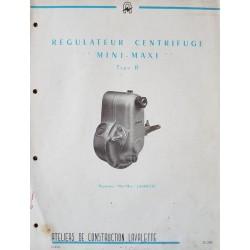 Lavalette régulateur centrifuge Mini-Maxi type R, notice