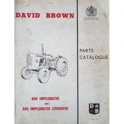 David Brown 850 Implematic et Livedrive, catalogue de pièces