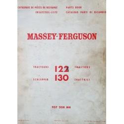 Massey-Ferguson 122 et 130, catalogue de pièces