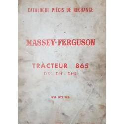 Massey-Ferguson 865 DS, DH, DHR, catalogue de pièces