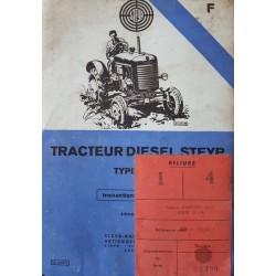 Steyer Type 180A, notice d'entretien