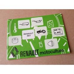 Renault 461 types R7441, notice d'entretien original