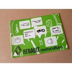 Renault 651, 651-5 types R7461 et R7464, notice d'entretien original