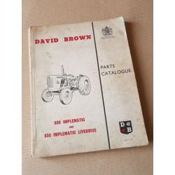 David Brown 850 Implematic et Livedrive, catalogue de pièces original