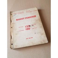 Massey-Ferguson 122 et 130, catalogue de pièces original