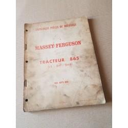 Massey-Ferguson 865 DS, DH, DHR, catalogue de pièces original