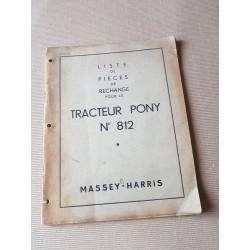 Massey-Harris Pony 812, catalogue de pièces original