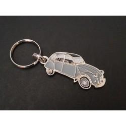 Porte-clés profil Citroen 2cv, 2cv4, 2cv6 (gris)
