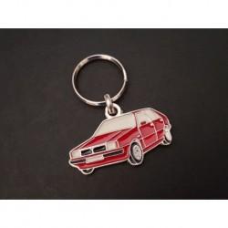 Porte-clés profil Lancia Delta, HF Turbo GT ie LX Integrale (rouge)