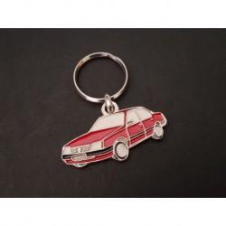 Porte-clés profil Opel Ascona C, 2.0E GT SR GLS Touring Luxus Cavalier (rouge)