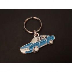 Porte-clés profil Opel Manta A (bleu)