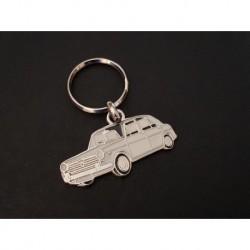 Porte-clés profil Austin et Morris 1300, BMC ADO16 (blanc)