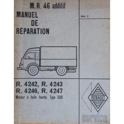 Renault moteur 580 à huile lourde, manuel de réparation