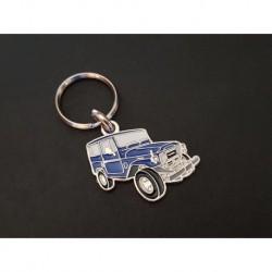 Porte-clés profil Toyota Land Cruiser FJ, FJ40 HJ40 BJ40 FJ41 OJ40 OJ50 (bleu)
