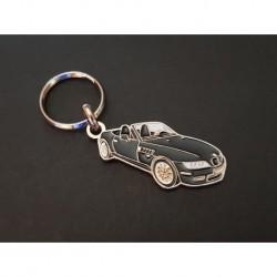 Porte-clés profil BMW Z3 roadster, Z3M E36 3.0i 2.8 1.8 2.5i 1.9i (noir)