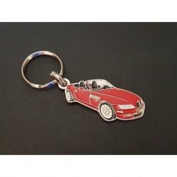 Porte-clés profil BMW Z3 roadster, Z3M E36 3.0i 2.8 1.8 2.5i 1.9i (rouge)