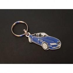 Porte-clés profil BMW Z3 roadster, Z3M E36 3.0i 2.8 1.8 2.5i 1.9i (bleu)