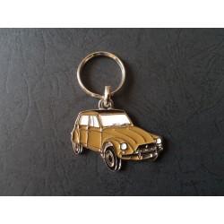 Porte-clés profil Citroen Dyane 4, 6 (marron)