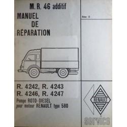 Roto-Diesel, pompe pour moteur Renault 580, manuel de réparation
