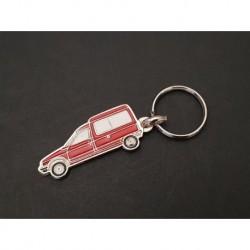 Porte-clés profil Citroen C15, C15D C15E vitré (rouge)