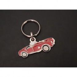 Porte-clés profil Shelby AC Cobra (rouge)