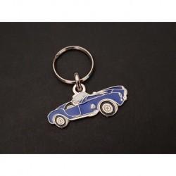 Porte-clés profil Shelby AC Cobra (bleu)