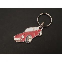 Porte-clés profil MG MGB GT, MGC GT (rouge)