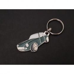 Porte-clés profil MG MGB GT, MGC GT (vert)