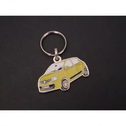 Porte-clés profil Renault Twingo 3 III, Zen GT ZE RE80 (noir)