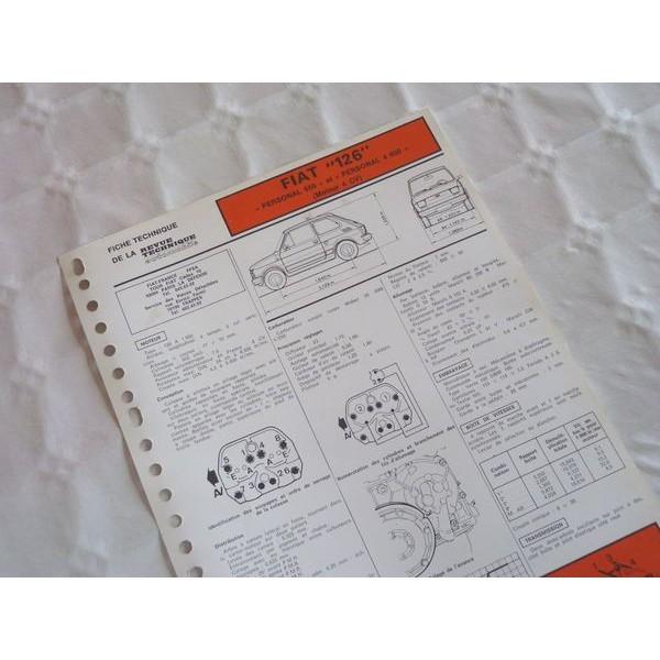 fiche technique fiat 126. Black Bedroom Furniture Sets. Home Design Ideas