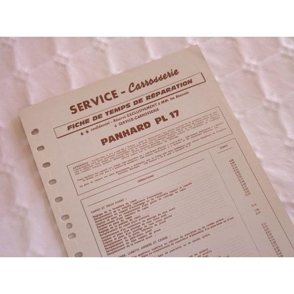 temps r paration carrosserie panhard pl17. Black Bedroom Furniture Sets. Home Design Ideas