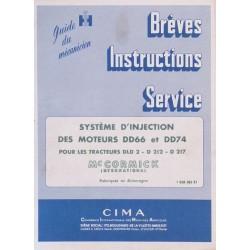 McCormick DLD2, D212, D217, système d'injection, manuel de réparation
