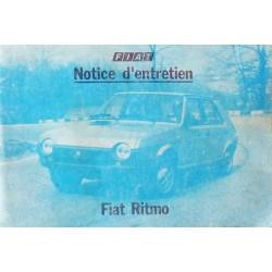 Fiat Ritmo 60, 65 et 75, notice d'entretien