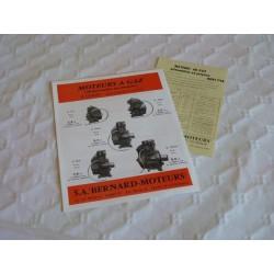Brochure Bernard Moteurs, moteurs à gaz
