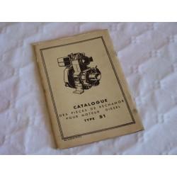 Bernard-Moteurs moteur Diesel 51, catalogue de pièces original