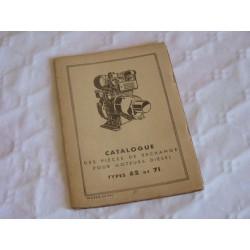 Bernard-Moteurs moteur Diesel 62 et 71, catalogue de pièces original