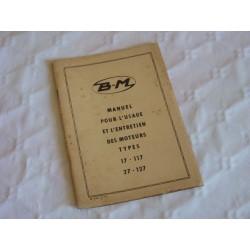 Bernard-Moteurs 17, 117, 27 et 127, notice d'entretien originale