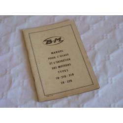 Bernard-Moteurs 18, 218, 318, 28 et 328, notice d'entretien originale