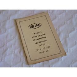 Bernard-Moteurs 19, 39, 139, 239, 29, 49 et 249, notice d'entretien originale
