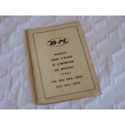 Bernard-Moteurs 19A, 39A, 139A, 239A, 29A, 49A, 249A, notice d'entretien originale