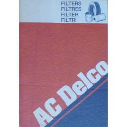 AC Delco, tous les filtres