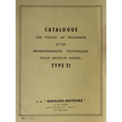 Bernard-Moteurs moteur diesel 21, catalogue de pièces et réglages