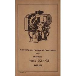 Bernard-Moteurs moteur diesel 32 et 42, notice d'entretien