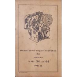 Bernard-Moteurs moteur diesel 34 et 44, notice d'entretien