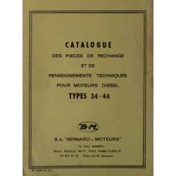 Bernard-Moteurs moteur diesel 34 et 44, catalogue de pièces et réglages