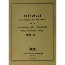 Bernard-Moteurs moteur diesel 51, catalogue de pièces et réglages