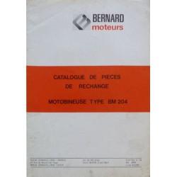Bernard-Moteurs motobineuse BM204, catalogue de pièces