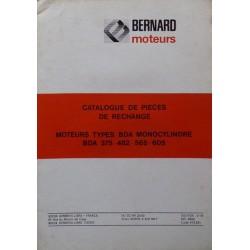 Bernard-Moteurs BDA 375, 482, 565, 605, catalogue de pièces